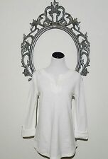 Talbots White Top Cover Pullover 100% Cotton Size Small 4-6 NEW