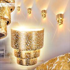 Wand Lampen Up Down Keramik Wohn Schlaf Flur Dielen Zimmer Leuchten goldfarben