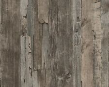 Non-woven Wallpaper wood board design brown AS Creation 95405-1 (2,40£/1qm)