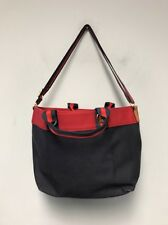 Tommy Hilfiger Red Navy Canvas Large Gym Travel Beach Duffle Bag