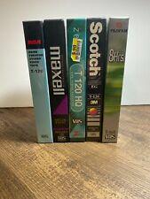 Video Cassette Tapes 4 T-120 6 Hr 1 T-160 8 hr Fuji Scotch RCA Maxell Zenith VHS