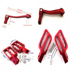 CNC Stylish Red Motorcycle Footpegs Foot Rest Peg Folding Gear Shifter Lever Set