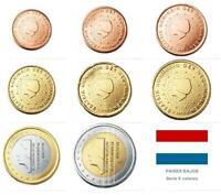 HOLANDA SERIE EUROS 2000 -  8 VALORES DE 1 CENT A 2 EUROS SIN CIRCULAR