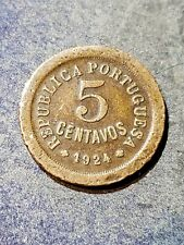 1924 Portugal 5 Centavos Foreign Coin