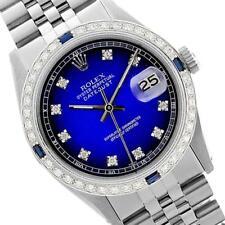 Rolex Ladies Stainless Steel, Diam Dial & Diam/Sapphire Bezel, Saph ... Lot 5513