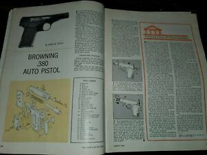 Browning .380 Pistol - AMERICAN RIFLEMAN MAGAZINE - March 1963
