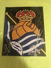 REAL SOCIEDAD ESPAÑA SIGNED 8x10 FÚTBOL FOOTBALL SOCCER