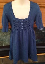 ABERCROMBIE & FITCH KIDS NAVY BLUE TOP SHIRT GIRL'S SIZE SMALL COTTON