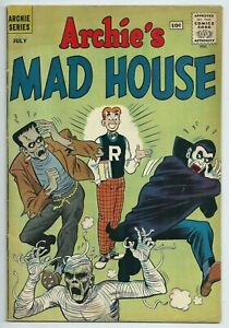 💀ARCHIE'S MAD HOUSE #13**JUL 1961 ARCHIE COMICS**CLASSIC COVER**FN/VG**DRACULA