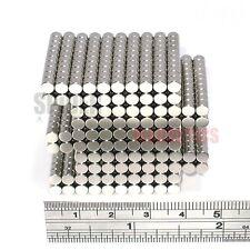 1000 Magnets 4x3 mm Neodymium Disc small round craft fridge magnet 4mm dia x 3mm
