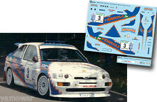 Decal 1:43 Vanio Pasquali - FORD ESCORT COSWORTH - Rally El Corte Ingles 1994