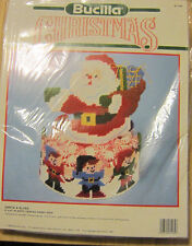 Bucilla 61139 Santa and Elves Plastic Canvas Candy Dish Kit 1990