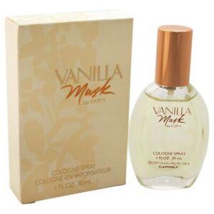 VANILLA MUSK * Coty 1.0 oz / 30 ml Eau de Cologne (EDC) Women Perfume Spray