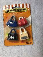 Japanese Erasers Eraser Purses made in USA
