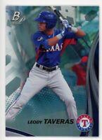 2017 Bowman Platinum LEODY TAVERAS Rookie Card RC #TP-LT Texas Rangers PROSPECT