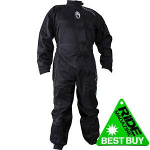 Richa Typhoon Motorcycle One Piece Rain Over Suit 100% Waterproof - Black