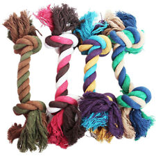 PET CHEW KNOT TOY COTTON BRAIDED BONE ROPE COLOR PUPPY DOG CHEW PLAY TOYS Fancy