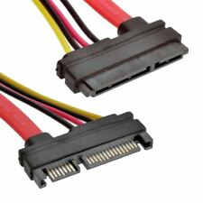 Male to Female 7+15 Pin Serial ATA SATA Data power combo extension Cable 22Pin