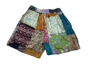 Shop Therapy Patchwork Multicolor Hippie Shorts