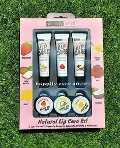 Beauty Treats Natural Lip care set! 3 Lip Cares + 3 Sugar Lip Scrubs *US SELLER*
