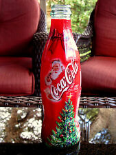 2002 CHRISTMAS  8 OUNCE WRAPPED  GLASS COCA  COLA BOTTLE