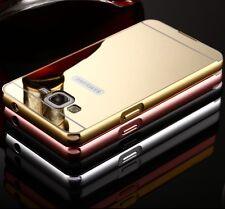 Luxury 24K Aluminum Bumper Frame Mirror Back Case Cover Skin For Samsung iPhone
