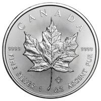 2018 $5 Silver Canadian Maple Leaf 1 oz Brilliant Uncirculated