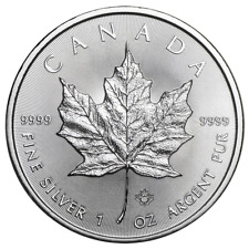 2018 $5 Silver Canadian Maple Leaf 1 oz Brilliant Uncirculated