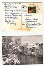 Bad Cannstadt 1 20.12.63 Stempelbeleg Obereckrand stampsdealer