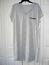 Ladies Nightgown/ Sleepshirt Egret   Dots Size XL