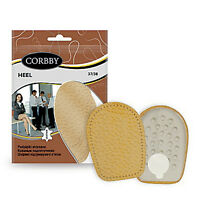 Heel Leather Shoes Insoles Cork Latex Elegant for Lady & Man, Natural and Black