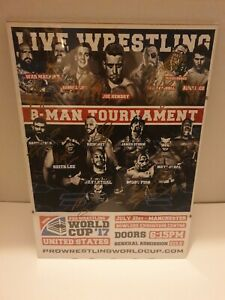 Wcpw Signed Posted Framed Wwe And Aew Wrestlers Inc Keith Lee Ricochet Marty...