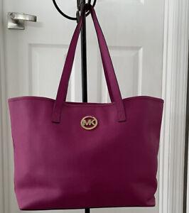 Michael Kors Large  Leather Satchel Shoulder Pink Tote Bag