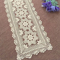 Vintage Table Runner Hand Crochet Cotton Lace Doilies Mats 40x120cm Patterns