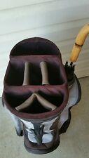 Golf Pak / Golfpak Cart Golf Bag â– Black & Gray Bag â– Umbrella Included
