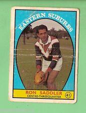 #D126. 1968 SERIES 1 RUGBY LEAGUE CARD #41  RON SADDLER, EASTERN SUBURBS