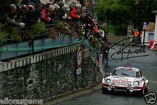 "World Rally Championship Driver Jean Ragnotti Hand Signed Photo 12x8""  AQ"