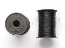 Perlenfaden schwarz 0,23 mm, 2 Spulen à ca. 400 m, Nylonfaden, Schmuckfaden