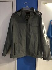 BKE Sport Buckle Gray Removable Hooded Water Resistant Lined Jacket XXL