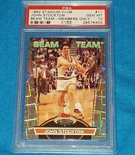 1992 STADIUM CLUB BEAM TEAM MEMBERS ONLY #11 JOHN STOCKTON HOF PSA 10 GEM MINT *