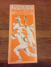 Florida Grapefruit League 1984 MLB Baseball Spring Training Schedule Brochure