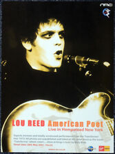 LOU REED POSTER PAGE . AMERICAN POET ALBUM ADVERT 1972 HEMPSTEAD THEATRE NY . M8