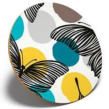 1 x Pretty Butterflies Art - Round Coaster Kitchen Student Kids Gift #8412