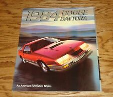 Original 1984 Dodge Daytona Deluxe Sales Brochure 84