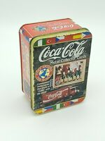 Collector Coca Cola Metal Art Cards w/ Tin 1996 Vintage Coke Around The World