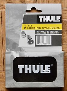 NEW SEALED Thule 512 2 Lock set of matching cylinders & keys