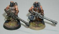 Warhammer 40k Chaos Marines Cultists Heavy Flamer x 2 - LOT 558