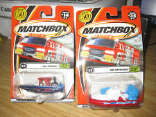 2001 Matchbox 50 Years Fire Hovercraft and Matchbox Sea Speeder Police Boat