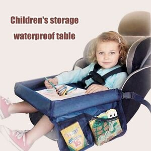 Baby Car Seat Tray Stroller Kids Toy Food Water Holder Waterproof Children Table