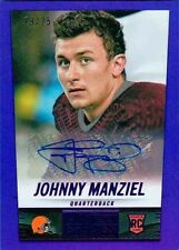 2014 PANINI HOT ROOKIES JOHNNY MANZIEL PURPLE AUTOGRAPH 19/25 BROWNS SP